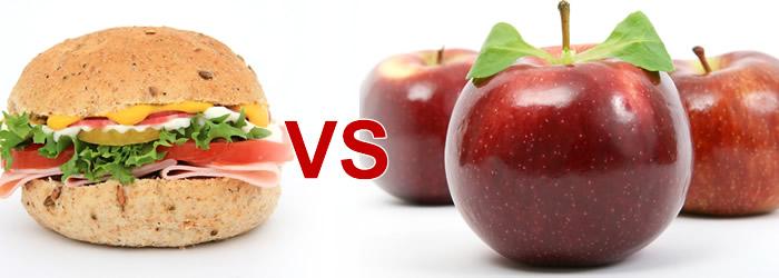 fructe vs sandwich