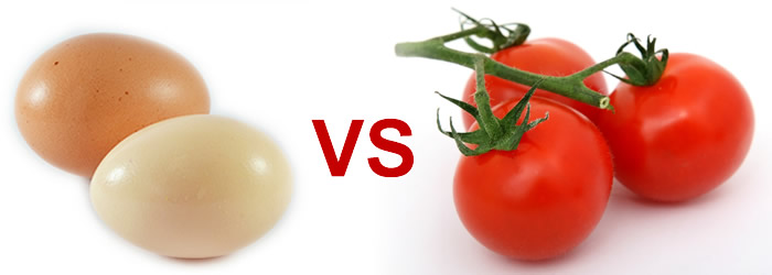 ouă vs roșii