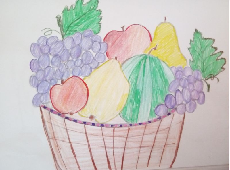 Desen coş cu fructe