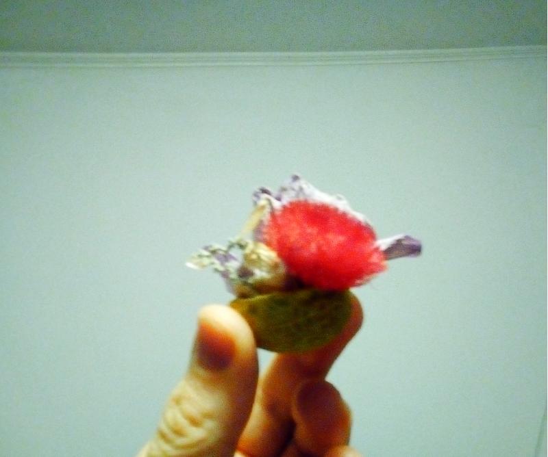 Aranjament floral în coajă de nucă