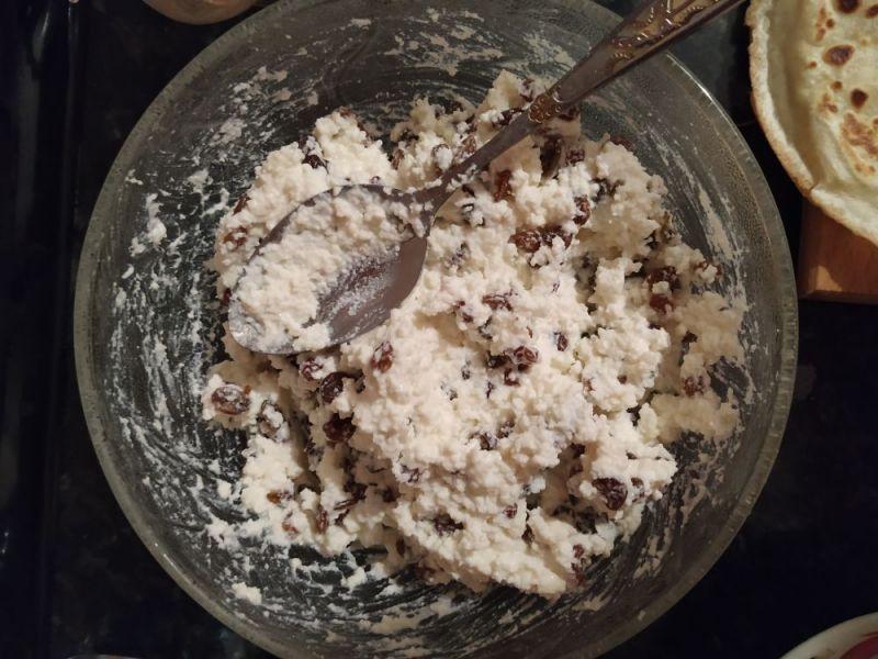 Brânză de vaci cu stafide sau merișoare