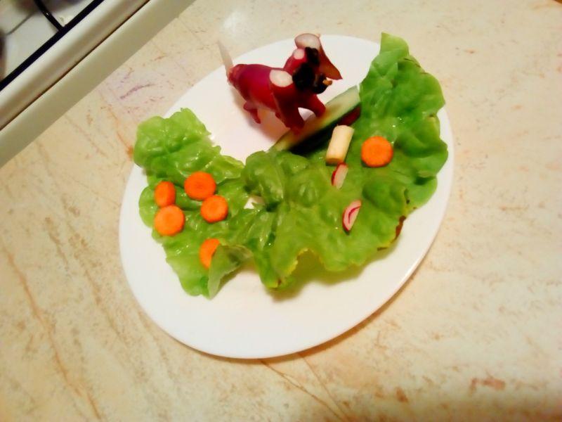 Cățeluș din legume
