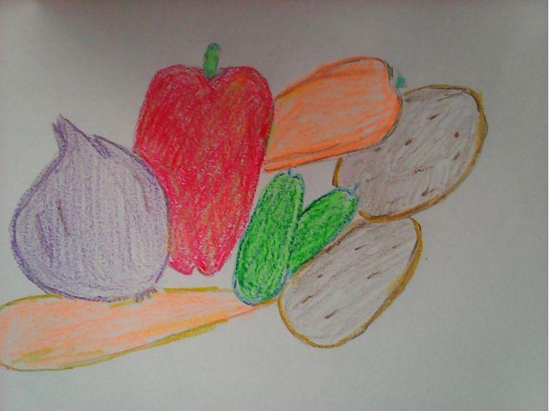 Desen cu legume
