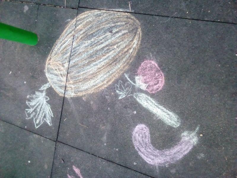 Legume -desen pe asfalt