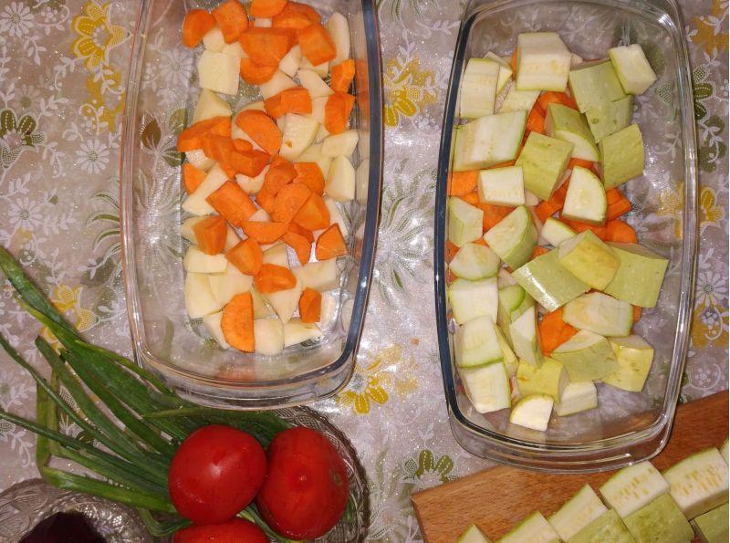 Mâncărică cu morcovi și dovlecel