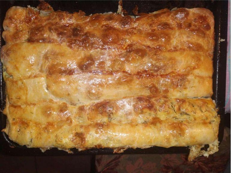 Plăcintă cu brânză și mărar