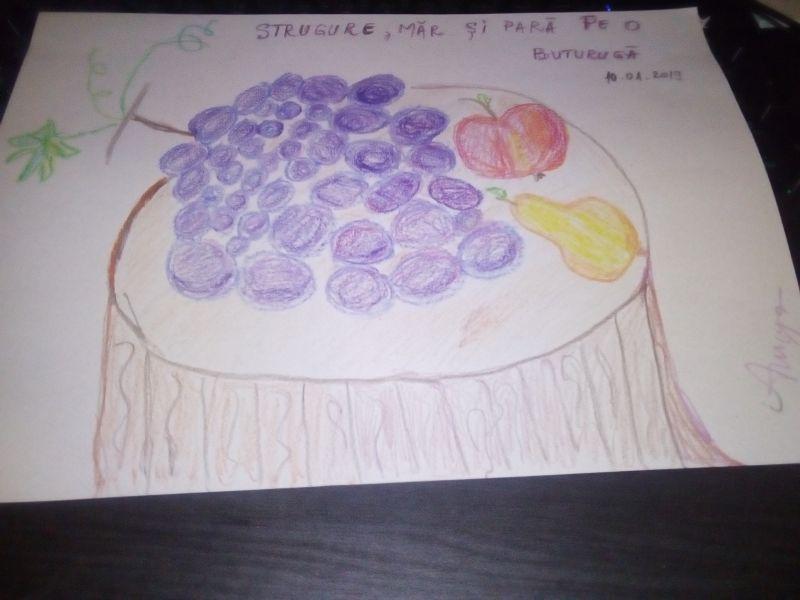 Fructe pe o buturugă - Fruchte auf einem Baumstamm