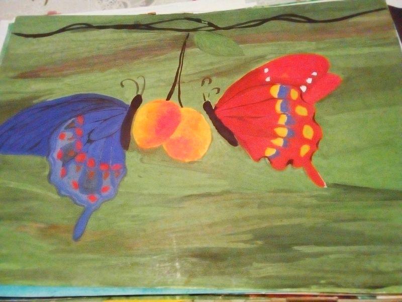 Fluturi și fructe