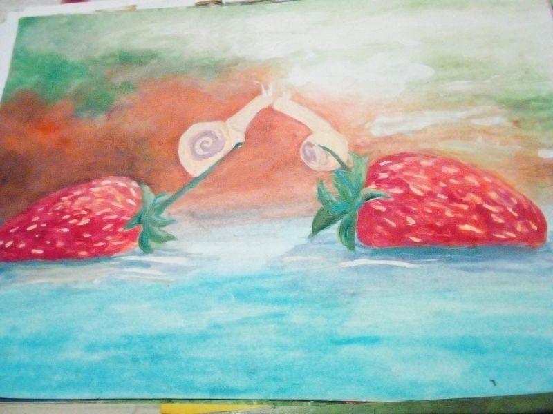 Căpșuni și melci îndrăgostiți