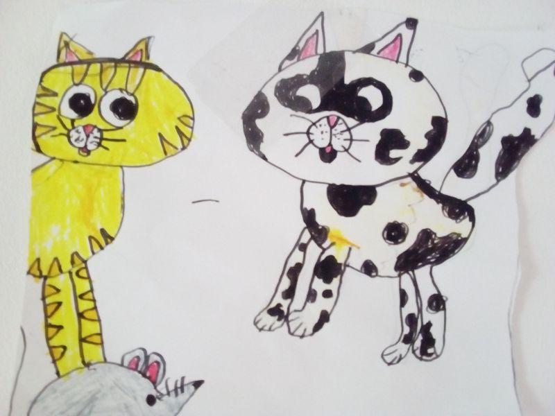 Pisicuțe desenate de Anastasia