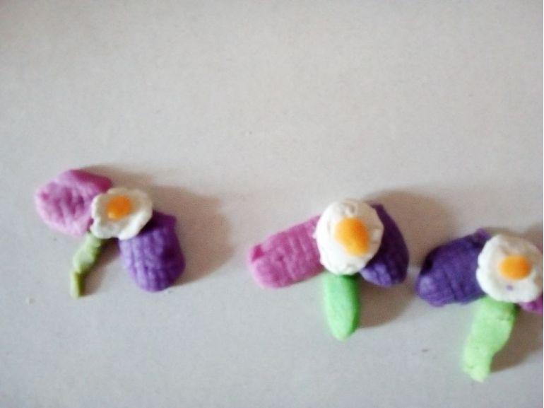 Flori din plastilină