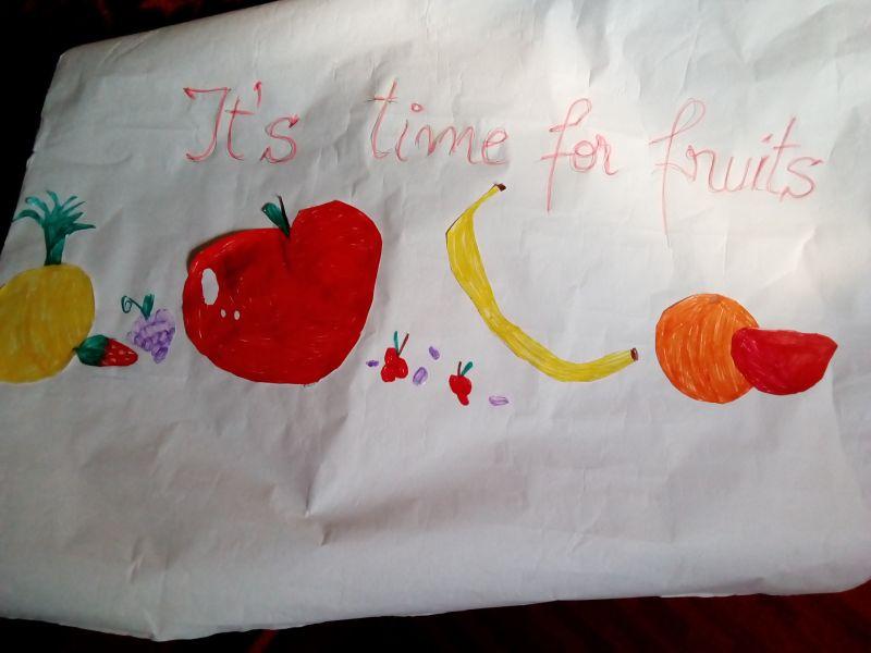 It's time for fruits! - Este vremea pentru fructe!