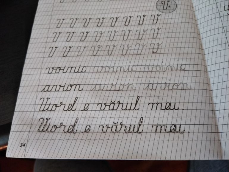 Premierea cu fructe a caietului scris