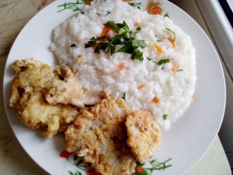 Pilaf de orez cu legume și pane de pleurotus