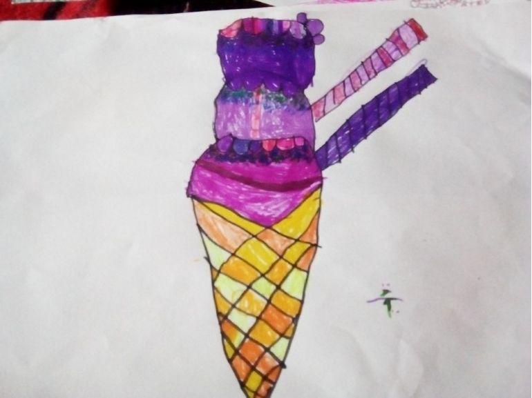 Înghețata cu fructe de pădure făcută de copii