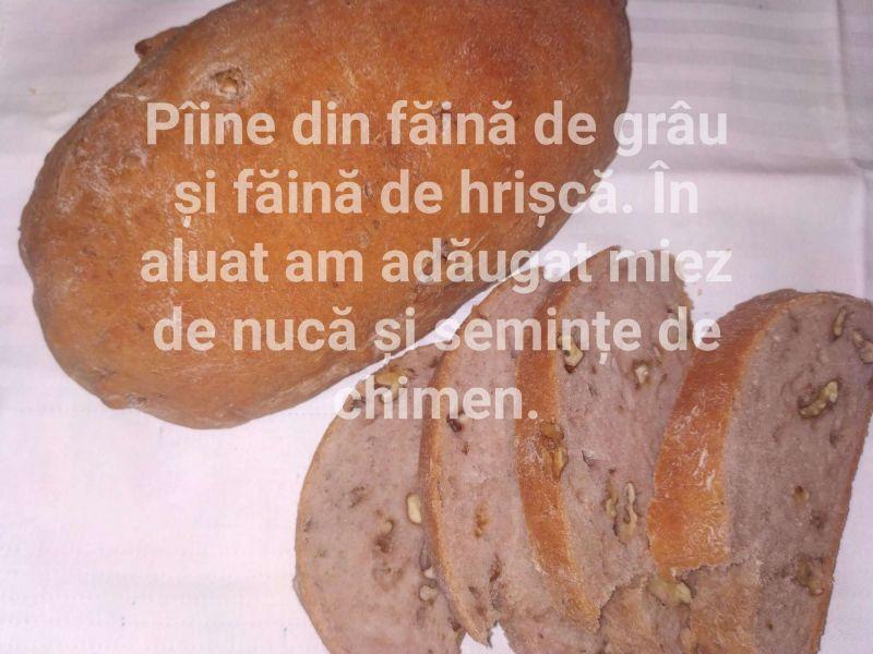 Pâine cu miez de nucă și chimen