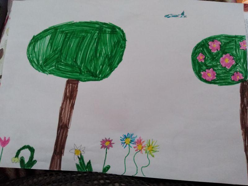 Primăvara - desen și poezie