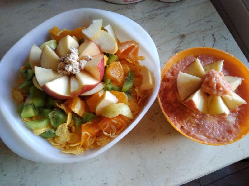 Nufăr din fructe - decorațiune culinară