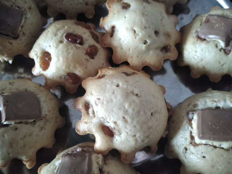 Brioșe cu fructe uscate - muffins