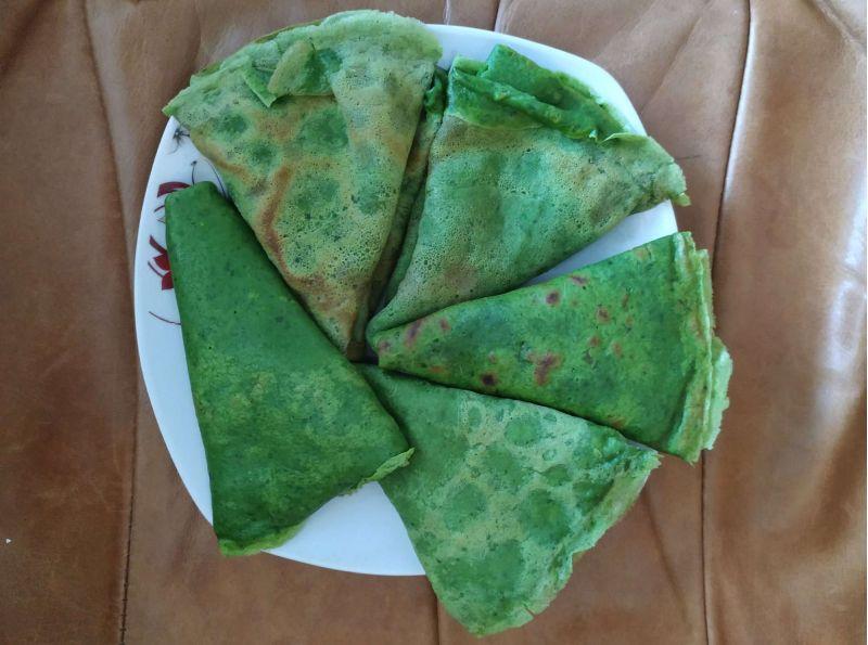 Clătite verzi cu spanac