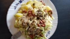 Salată de cartofi cu semințe de dovleac