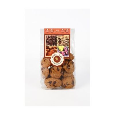 Biscuiti vegani cu ciocolata belgiana vegana (fara zahar adaugat) 150g