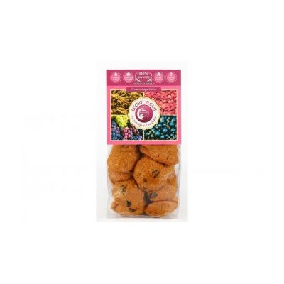 Biscuiti vegani cu coacaze si trandafiri (fara zahar adaugat) 150g