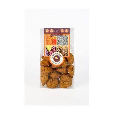 Biscuiti vegani digestivi cu mac si turmeric (fara zahar adaugat) 150g