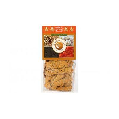 Crackers vegani cu roșii și usturoi 125 g
