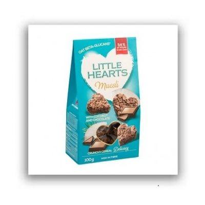 Musli Crunch cu Ciocolata si Cocos - Little Hearts 100 g