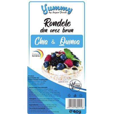 Rondele din Orez Brun cu Chia & Quinoa 60g